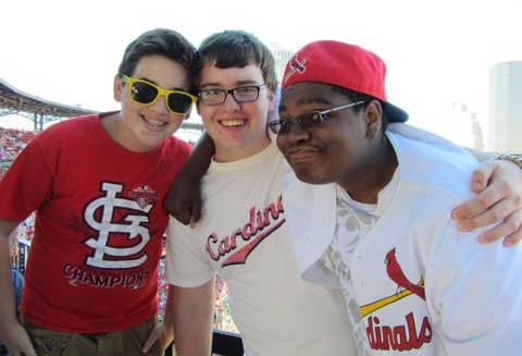 Harrison, Ben and Jamal at Cards game