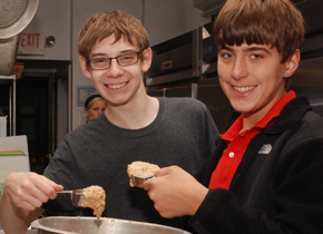 Youth Ministry sandwich making