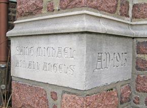 Cornerstone of church 1