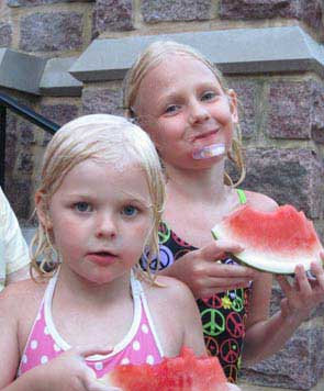 watermelon and kids