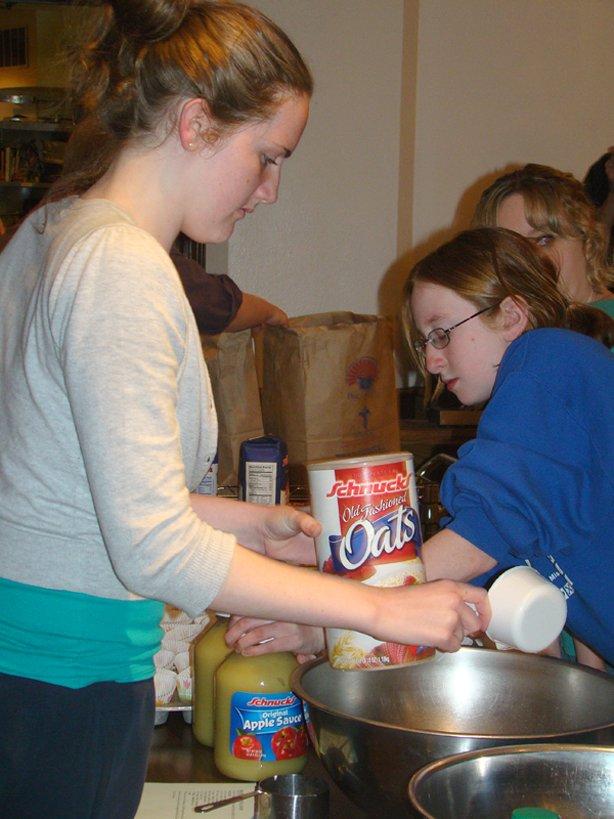 YM baking for fundraiser