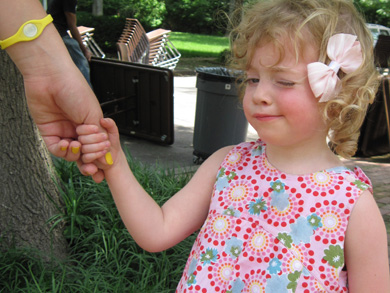 Parish picnic participant
