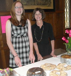 Volunteers at the YM bake sale.