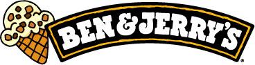 Ben _ Jerry_s Ice Cream logo with cartoon of an ice cream cone on the left