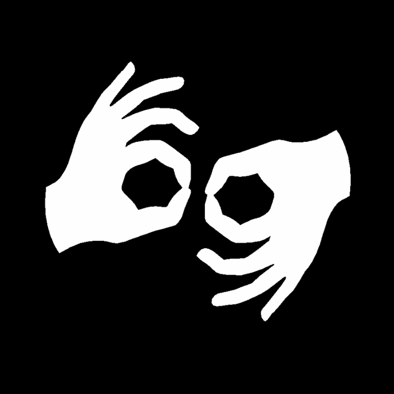 Symbol for sign language available