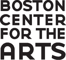 logo in black and white in black letters written _Boston Center for the Arts_