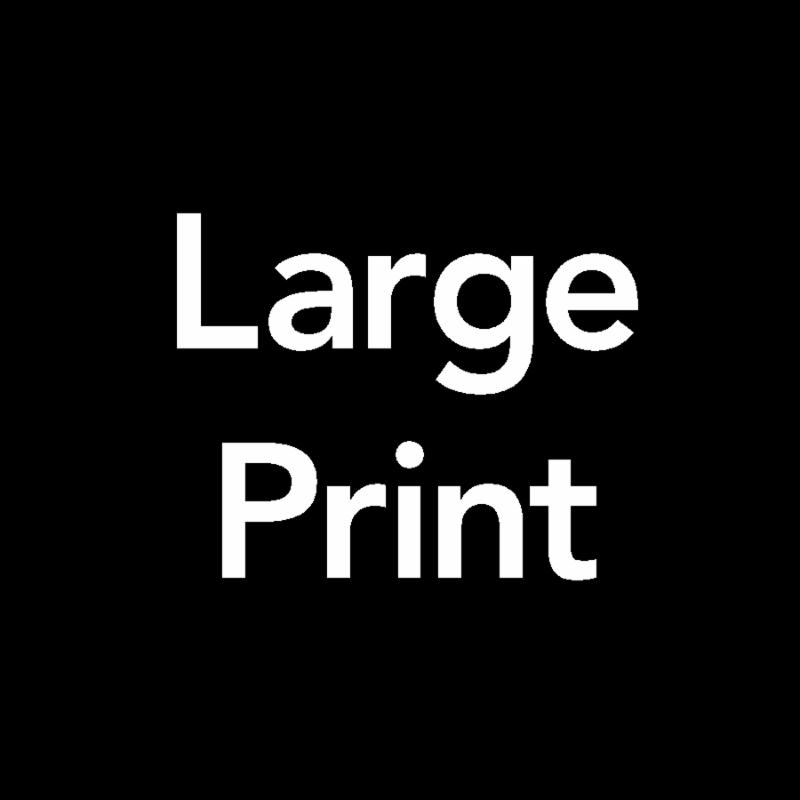 Symbol for _Large Print_
