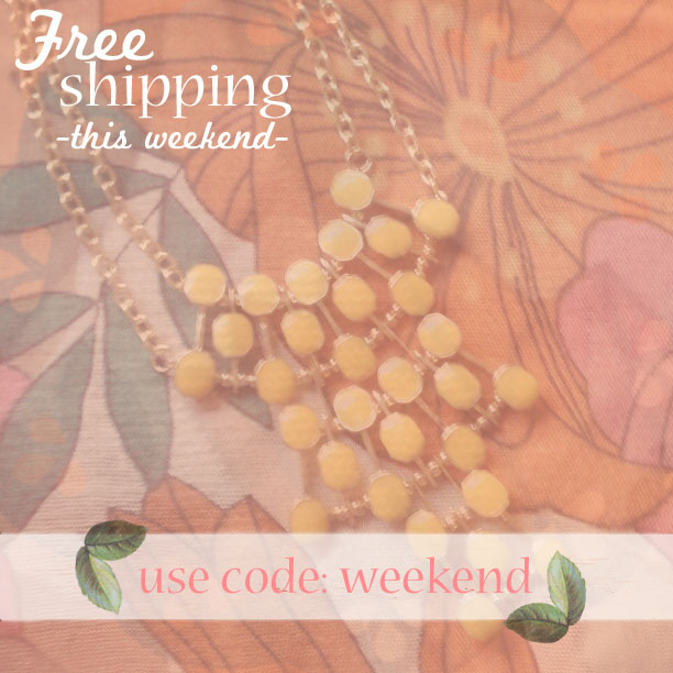 Free shipping this weekend | use code: weekend