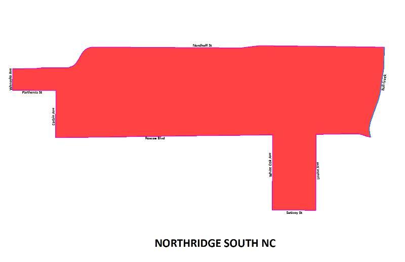 Northridge South NC map