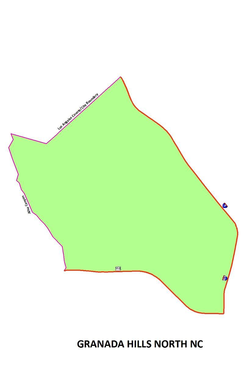 Granada Hills North NC map