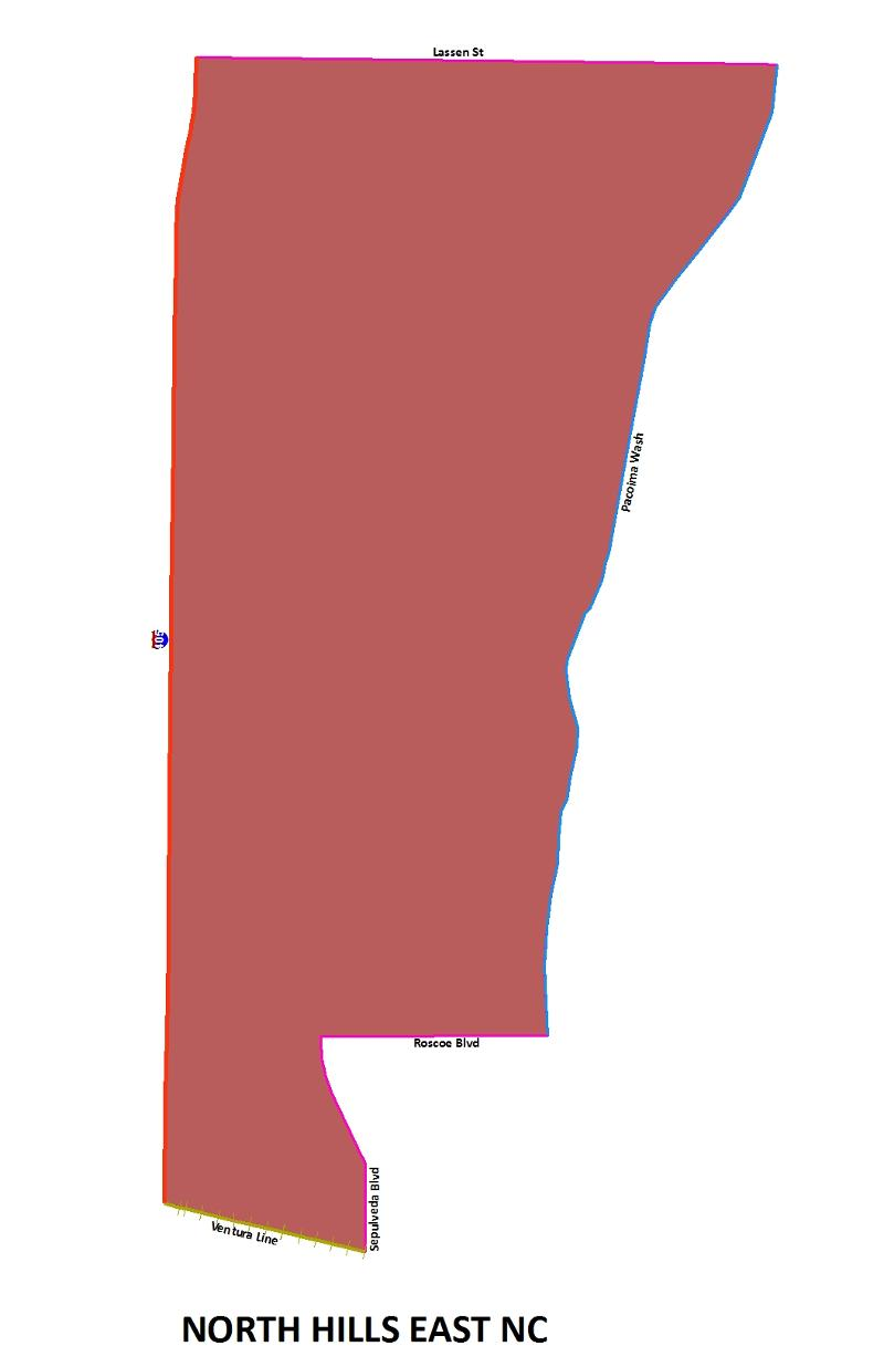 North Hills East NC map