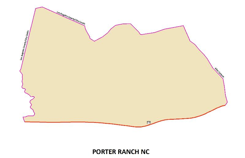 Porter Ranch NC map