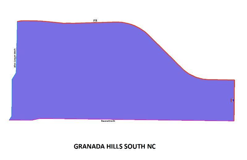 Granada Hills South NC map