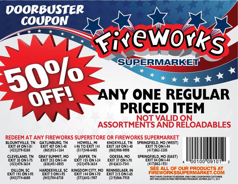 Fireworks Supermarket Coupon: