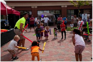 Dan w kids a Katy Kid Festival