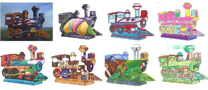 Artists Renderings Trains