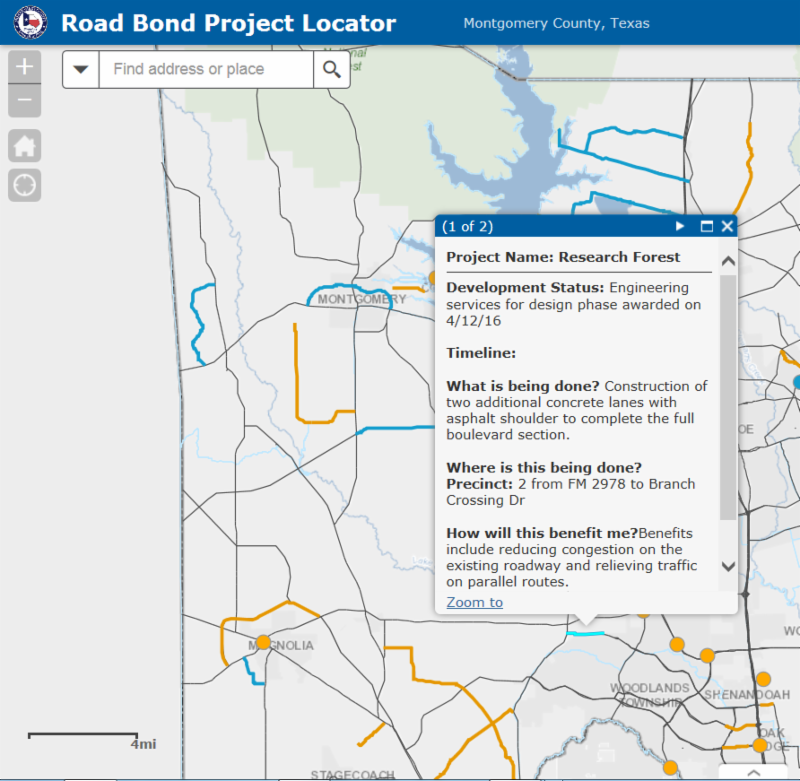 County launches online site to help public track progress on road bond