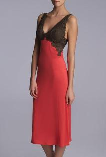 lingerie for women over 40, Natori Red gown