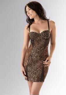 lingerie for women over 40, leopard print nightgown