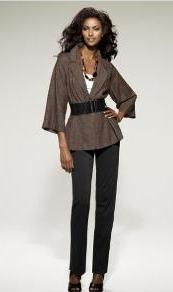 Peplum jacket, spring 2010 fashion