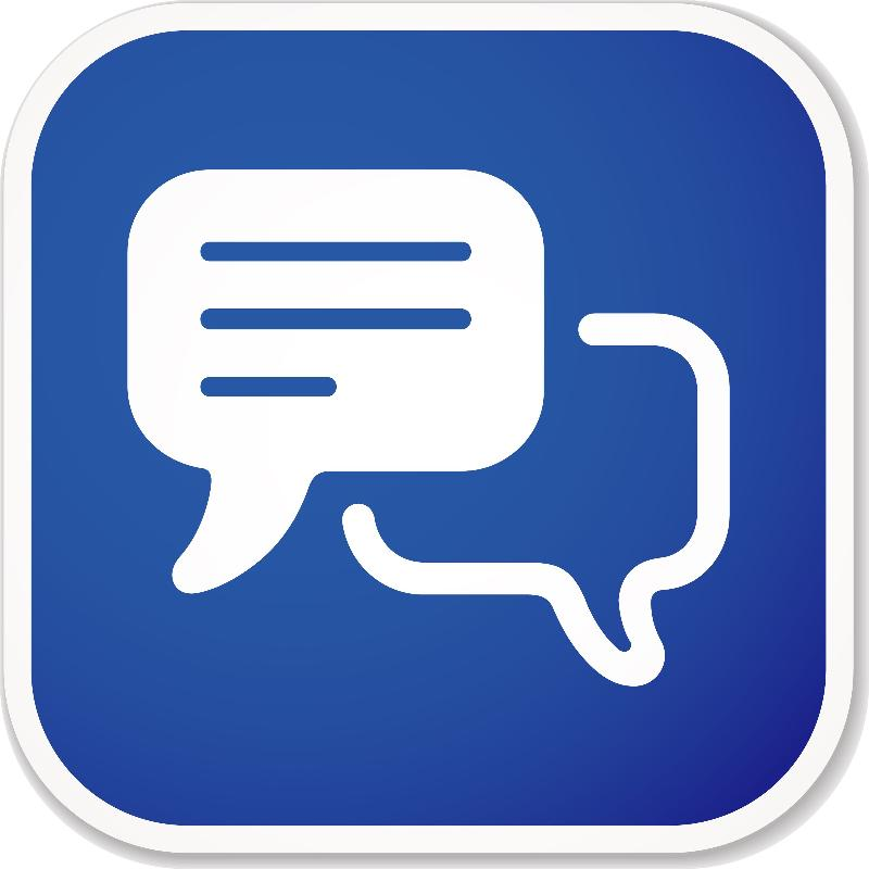 Chat Blue Icon