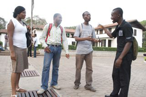 Students at University of Legon, Ghana