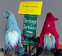 Norwegian trolls guarding copies of Heritage of Darkness.