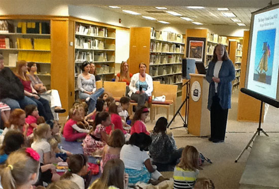 Annapolis Book Festival 2013 American Girl Fans Program by Kathleen Ernst. Photo by Stuart Wilson.