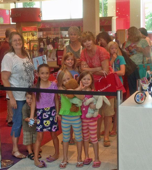 Photo of Caroline Abbott fans at Dallas American Girl Store August 6, 2013.
