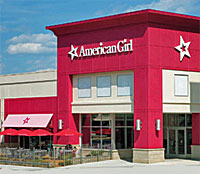 Exterior photo of the American Girl store in McLean, VA.