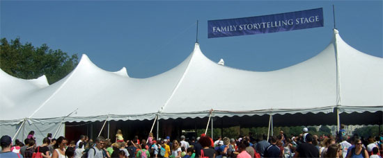 Target's Family Storytelling Tent at 2012 National Book Festival.