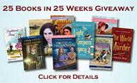 Kathleen Ernst's 25 Books in 25 Weeks Giveaway logo.
