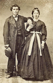 Klaus and Rosina Roelke sepia portrait from collection of bestselling author Kathleen Ernst.