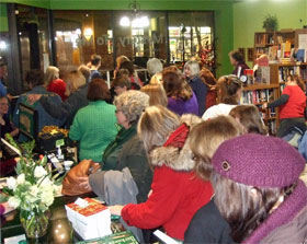 Heritage of Darkness launch party crowd.