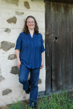 Author Kathleen Ernst at Old World Wisconsin 2011