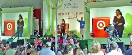 Kathleen on Target Family Storeytelling Stage at National Book Festival.