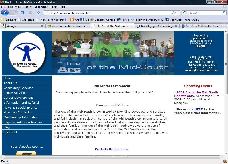 Arc of the mid south, website