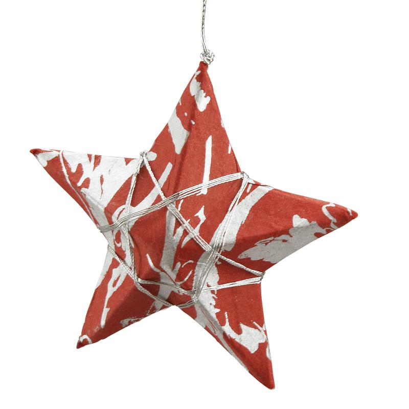red holiday star