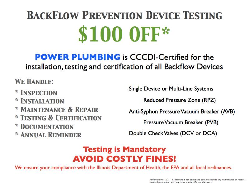 Special Offer 100 Off Backflow Prevention Device Testing