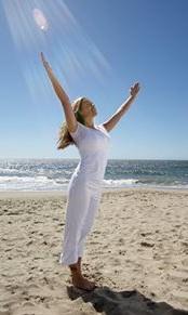 yoga beach illustration