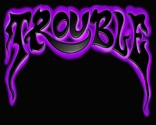 trouble logo purple