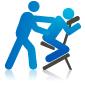chair massage illustration