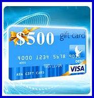 Visa Gift Card $500