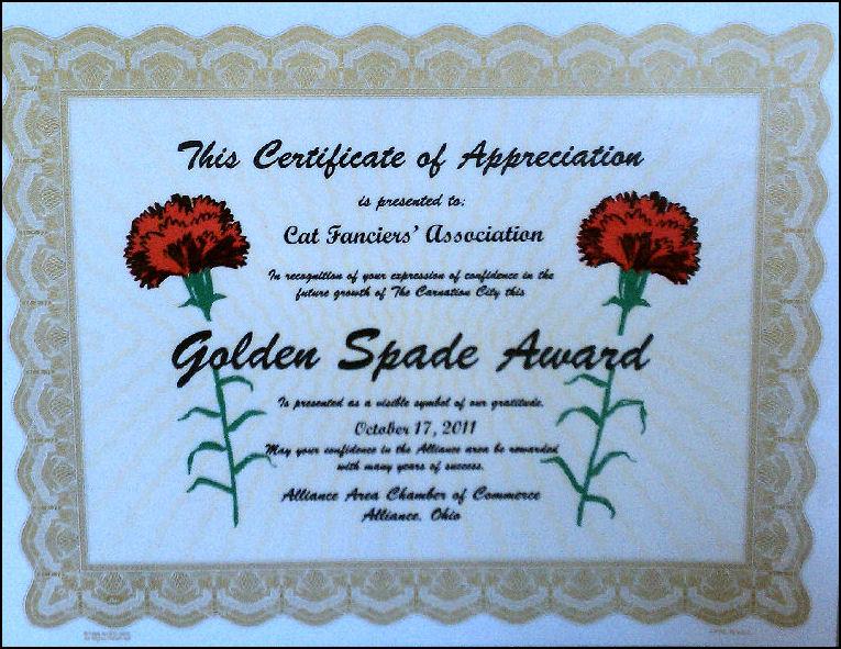 Spade Award
