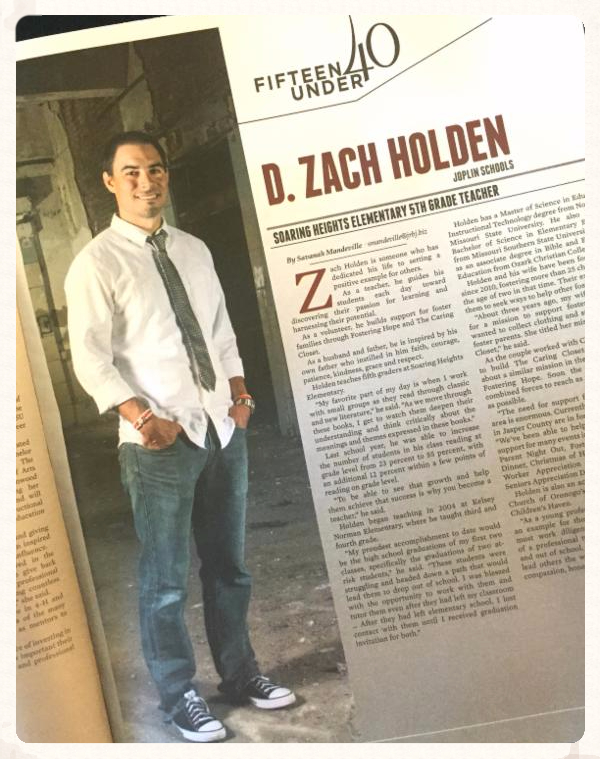 Zac Holden 15 Under 40