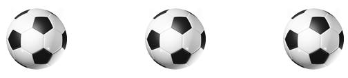 3 soccer balls