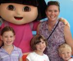 Kathy  and children