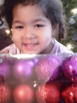 Girl, Christmas Tree