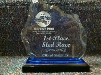 Ice Fest Sled Race Award