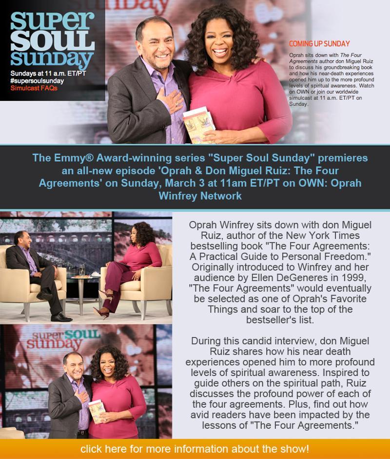 Don Miguel Ruiz To Be On Oprah Winfreys Super Soul Sunday